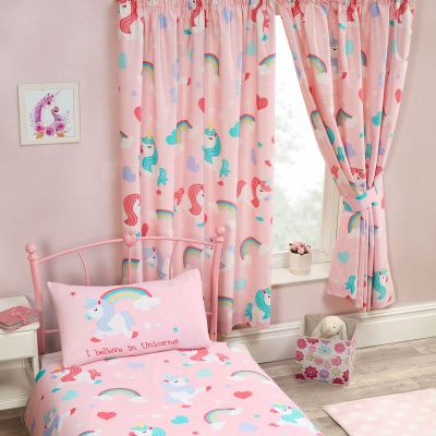 CHILDRENS MATCHING DUVET COVER SETS CURTAINS WALLPAPER BORDERS UNICORN DINOSAUR | eBay