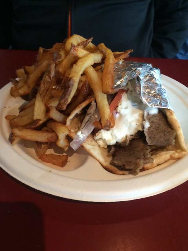 Niko Niko's Greek & American Cafe - Houston, TX, United States. Traditional gyro with feta