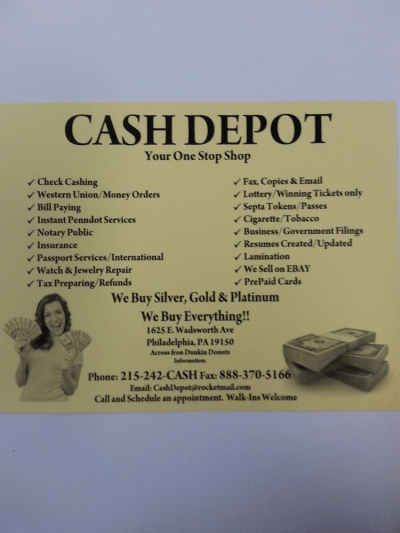 Cash Depot - Check Cashing/Pay-day Loans - 1625 Wadsworth ...