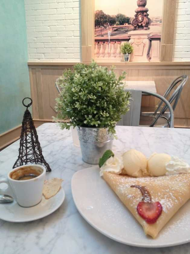 Sweet Paris Crêperie & Cafe - Houston, TX, United States. Dulce de leche crepe with added strawberries.