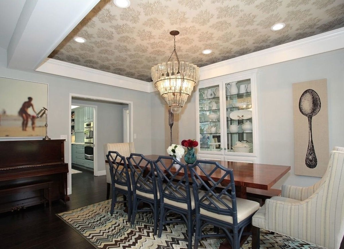 Wallpapered Tray Ceiling - Wallpapered Rooms - 12 Photos to Inspire - Bob Vila