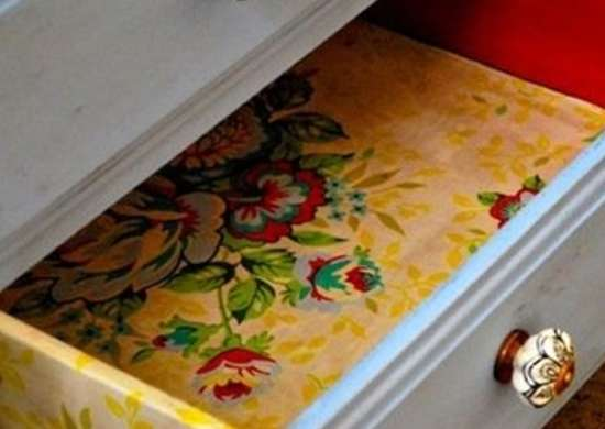 Drawer Liner - Repurposing Wallpaper - 12