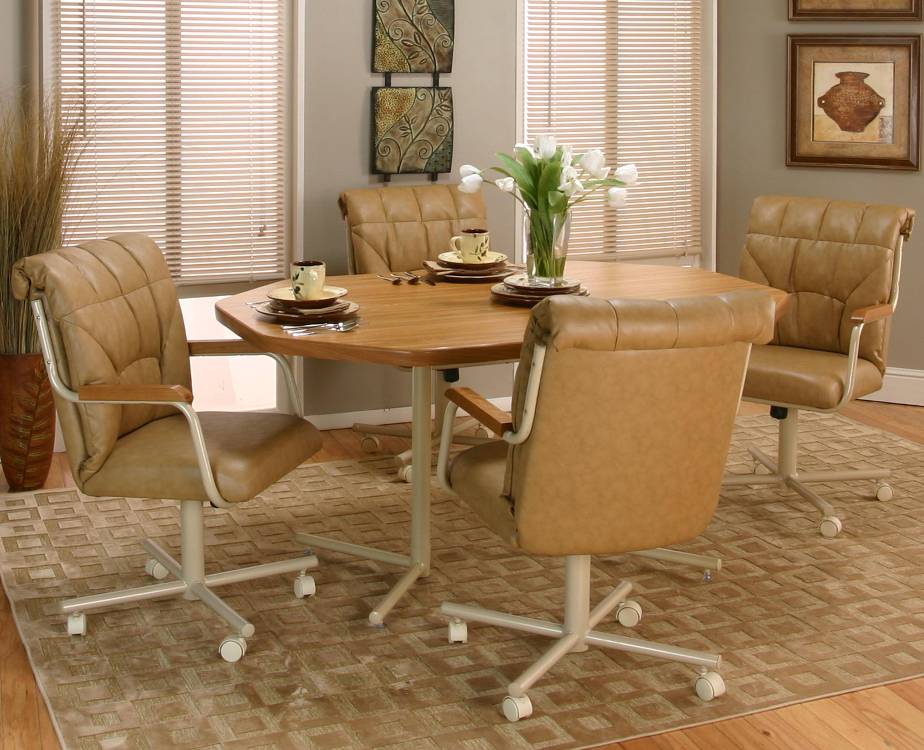 kitchen chairs with rollers Tilt Swivel Chair