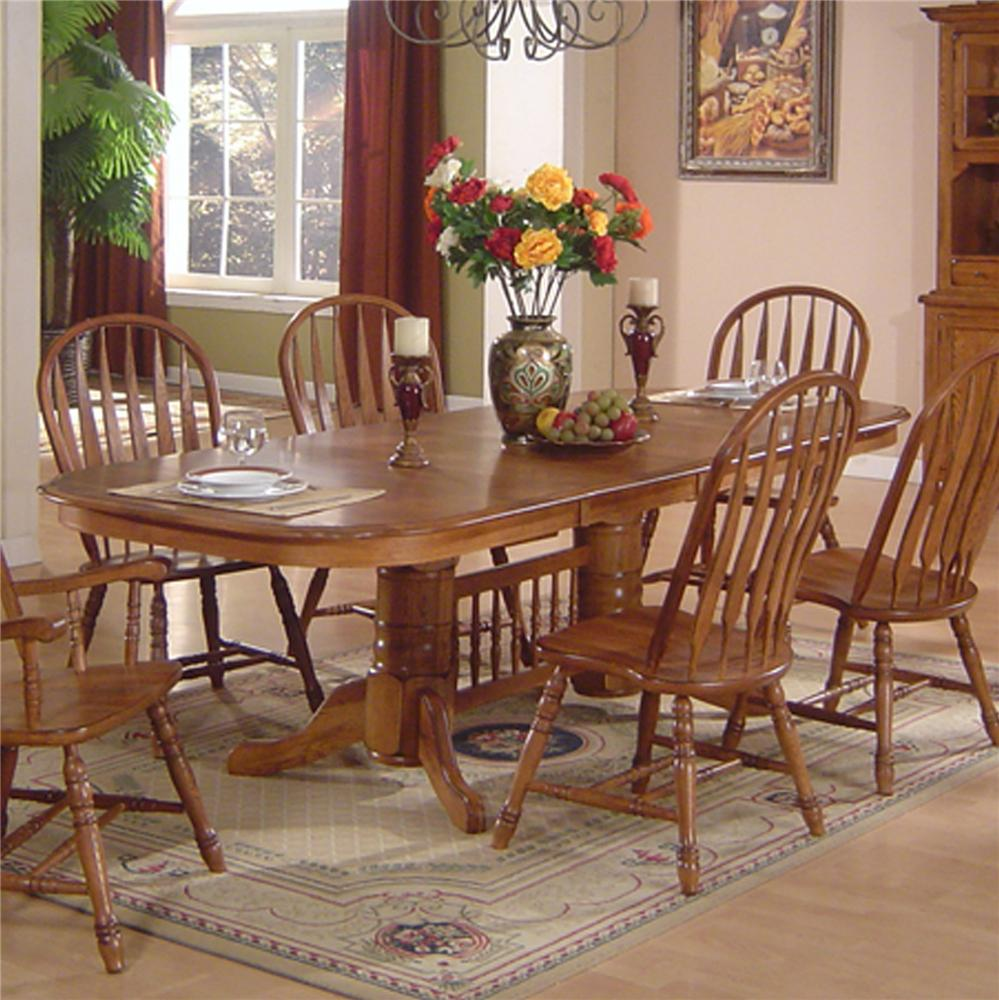 kitchen table chairs set Solid Oak Dining Table Chair Set
