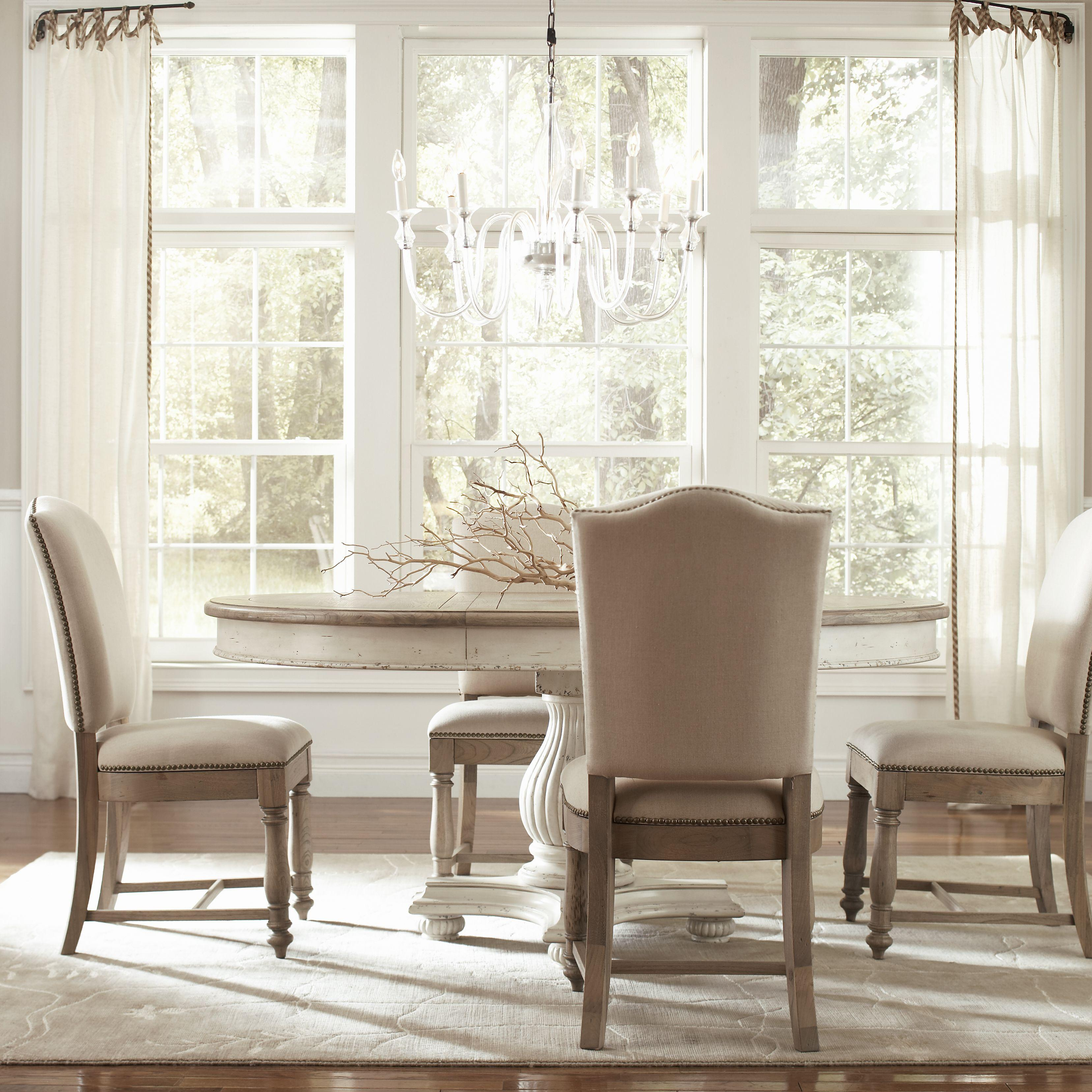 two tone kitchen table Round Dining Table