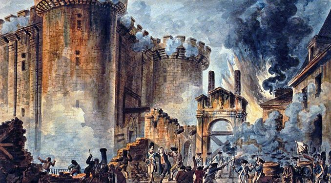 Terrorism  restlessness  and Bastille Day     Catholic World Report  Storming of the Bastille   1788  by Jean Pierre Louis Laurent Houel    Wikipedia