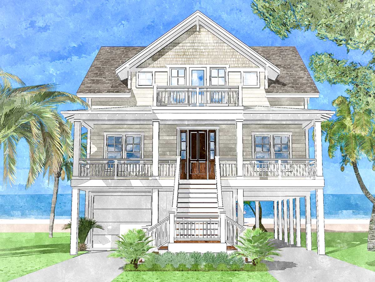 Upside Down Beach House - 15228NC | Architectural Designs - House Plans