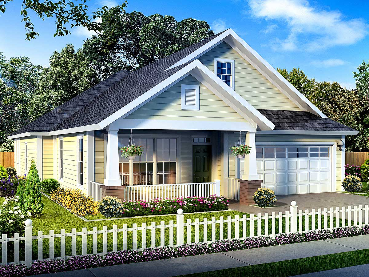 Narrow Lot Home Plan Lives Large - 52210WM | 1st Floor Master Suite, Butler Walk-in Pantry, CAD ...