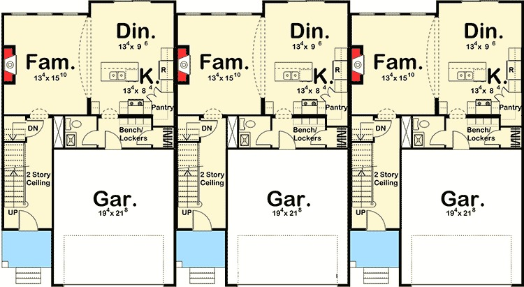 Easy To Build 3 Unit House Plan - 62523DJ   2nd Floor ...