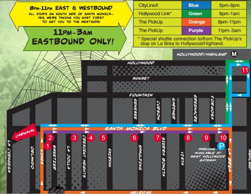 WeHo-Carnaval-Shuttle-Routes
