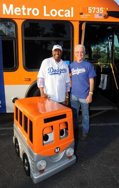Metro CEO Phil Washington and Board Member Paul Krekorian.