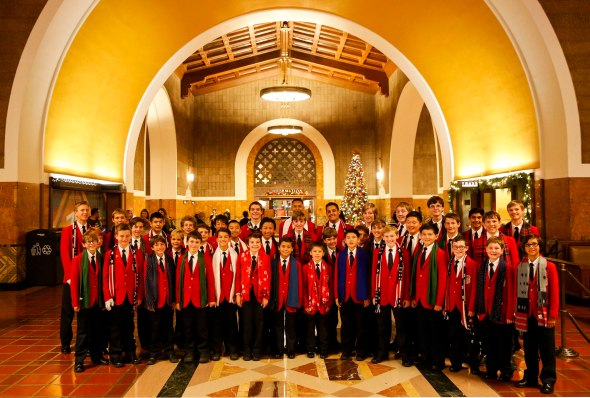 The All-American Boys Chorus performs a holiday concert at Union Station on Friday, December 5, 2014. Used with permission. © 2014 Patrick T. Fallon