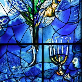 Stained glass by Marc Chagall.