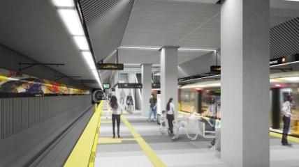 The underground Leimert Park Station.
