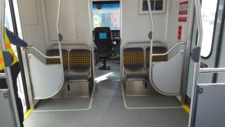 New seat layout so legs no longer block cab door. Good.