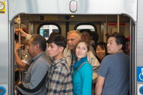Not all the trains were this crowded! Photo by Steve Hymon/Metro.