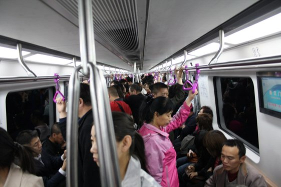 Beijing subway. Photo by Gray World, via Flickr creative commons.