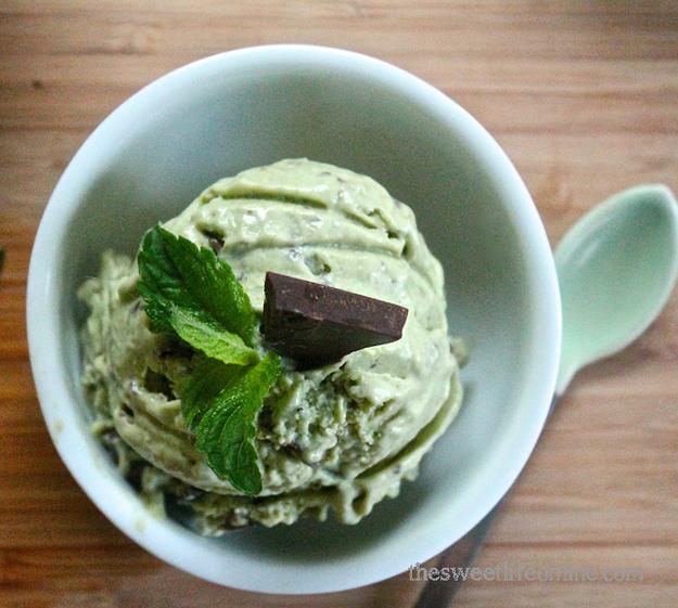 Raw Mint Chocolate Chip Ice Cream