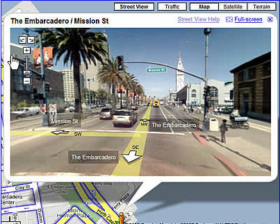 Add Google Maps Street Views To Your Apps   GeoChalkboard You ll notice that when you go to the main Google Maps page a new button  called Street View has been added to the display