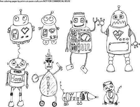 Print, Cut, Paste, Craft » Blog Archive » Cute Robots