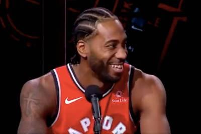 People are loving new Toronto Raptor Kawhi Leonard's laugh