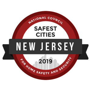 Safest Cities New Jersey - badge