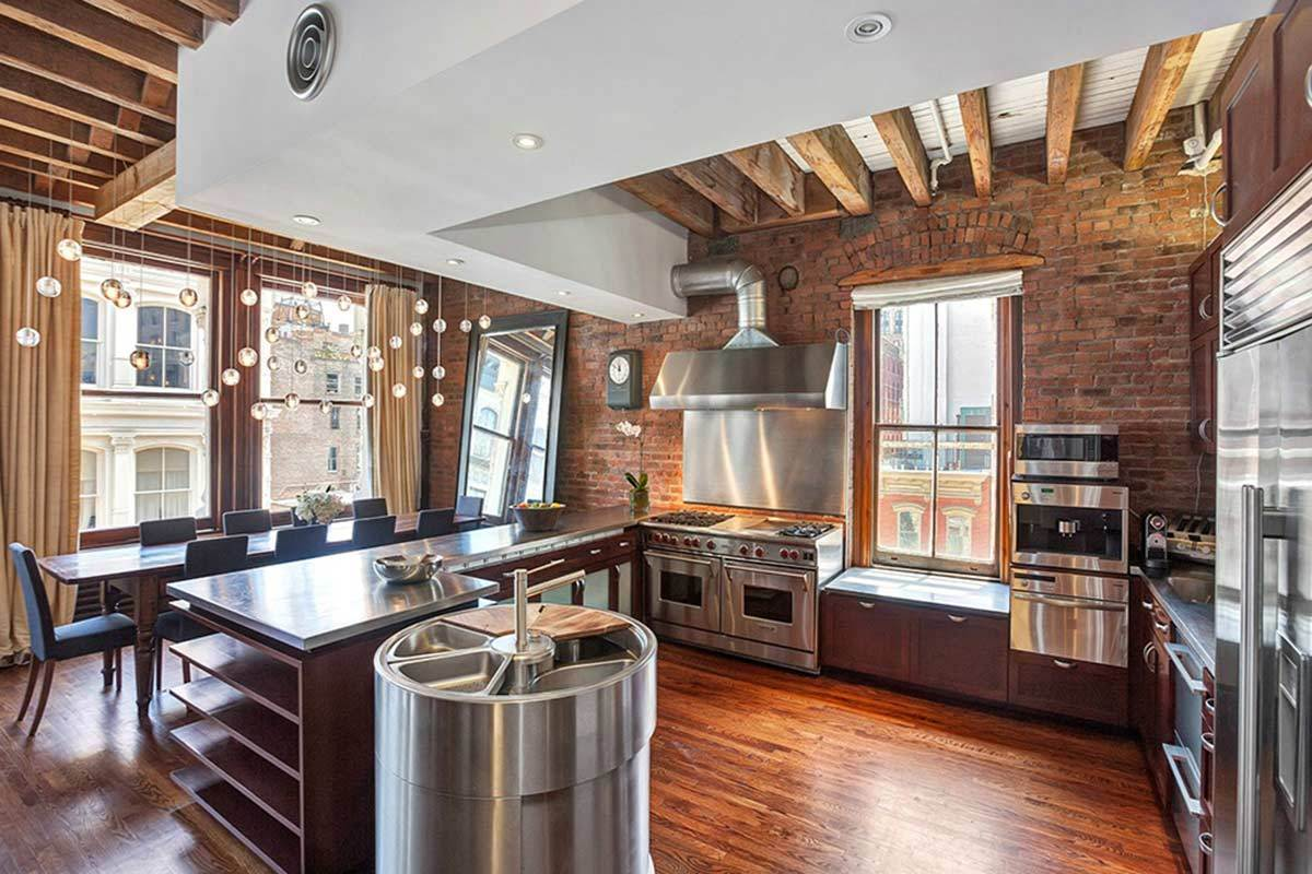 stainless steel kitchen ideas stainless steel kitchen countertops 2 Brick Walls