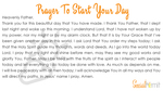 Prayer to start your day printable
