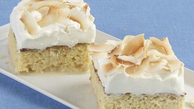Toasted Coconut Tres Leches Cake - Recipe - FineCooking