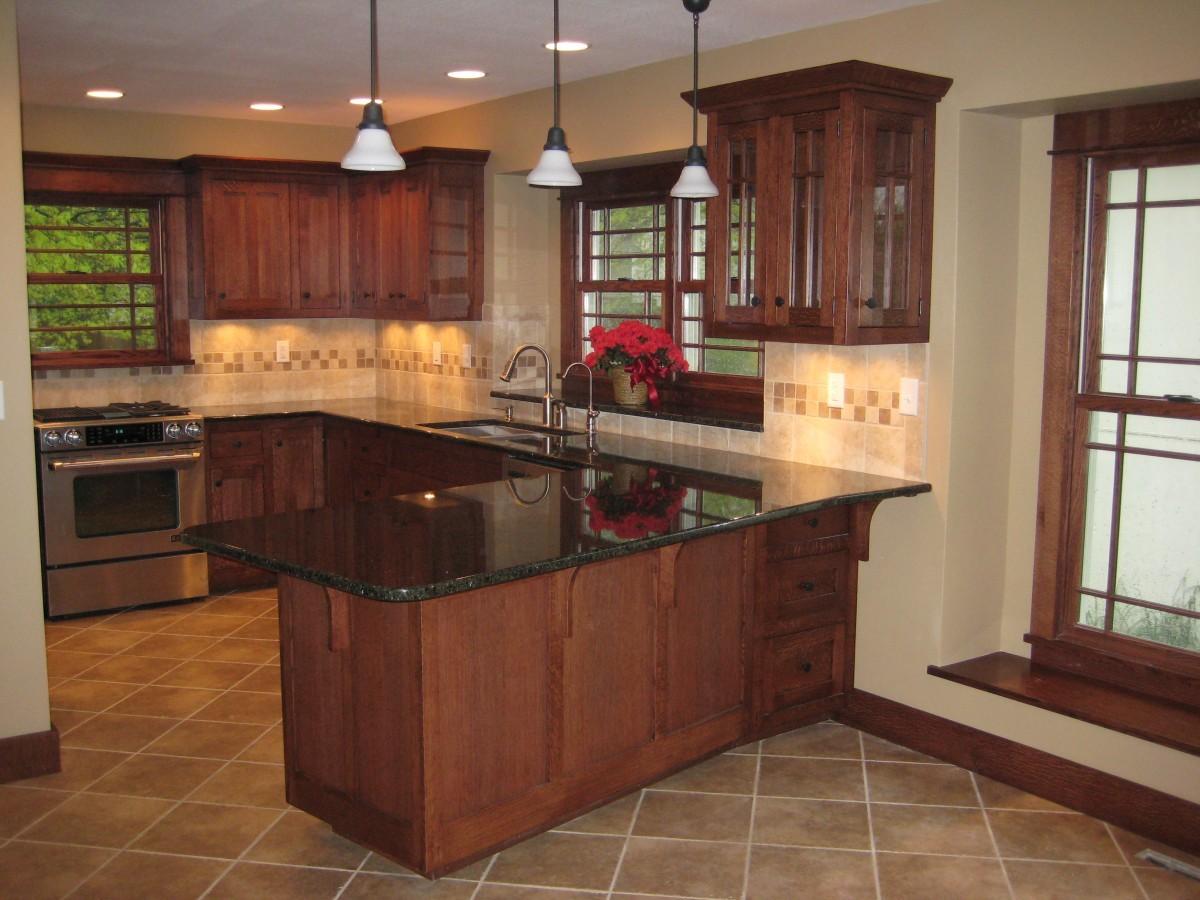 complete arts and crafts quartersawn white oak kitchen remodel kitchen remodelers Complete Arts and Crafts Quartersawn White Oak Kitchen Remodel