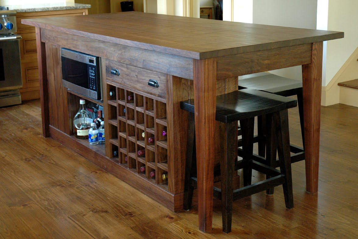 a custom kitchen island custom kitchen islands a walnut island