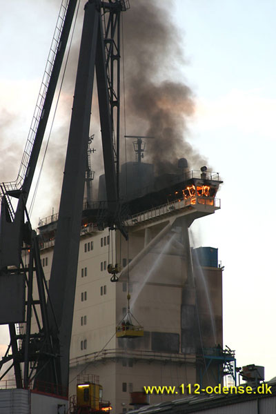 Emma Maersk Fire - Accomidation Block