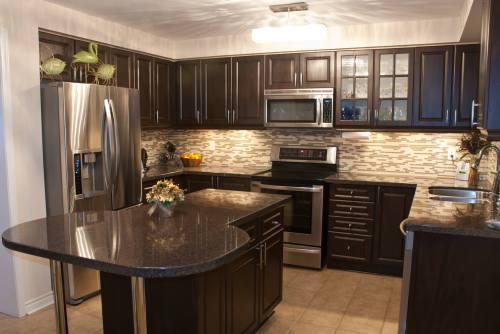 Medium Of Dark Kitchen Cabinets