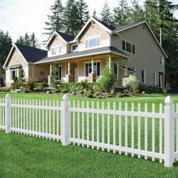 Small Crop Of White Picket Fence House