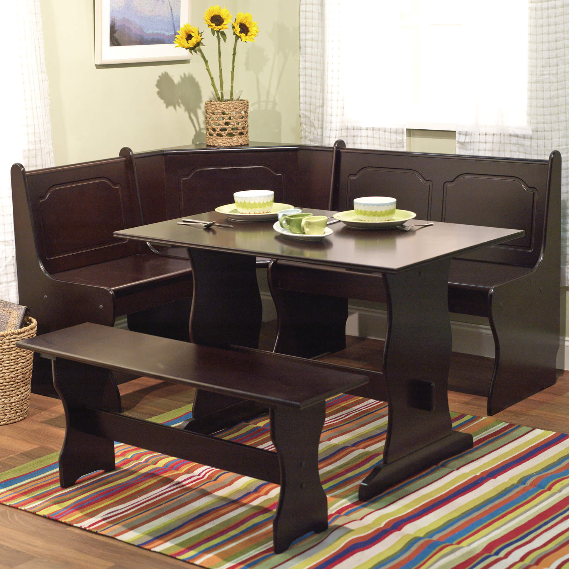 breakfast nook furniture sets kitchen table chairs 2 TMS Breakfast Nook