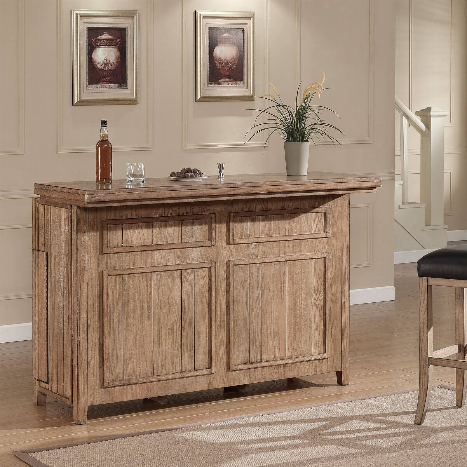 R As You Can See The Amount Of Storage In This Rustic Home Bar Cabinet Unit