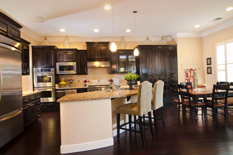 kitchens with dark wood floors wood floors in kitchen