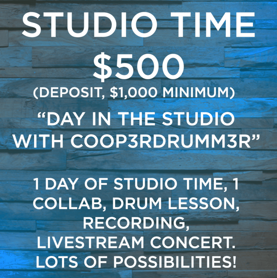 RESERVE a Day In The Studio with COOP3RDRUMM3R! (DEPOSIT NOW, ONLY 8 SPOTS LEFT) 005