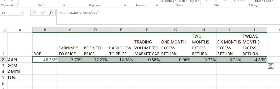 Quant Model With Intrinio Financial Data
