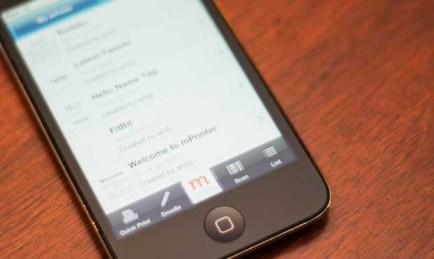 The mPrinter iPhone application