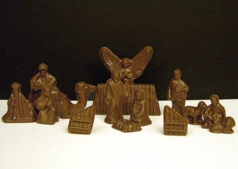 chocolate nativity