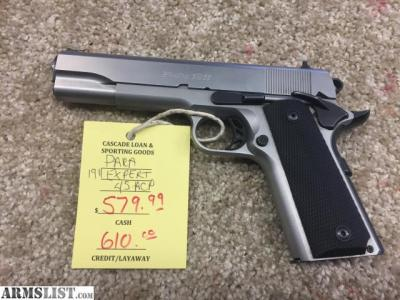 ARMSLIST - For Sale: PARA 1911 EXPERT 45 ACP STAINLESS