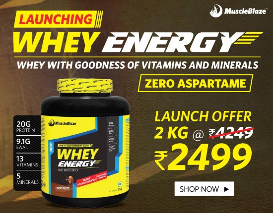 MuscleBlaze Whey Energy Chocolate 4.4 lb