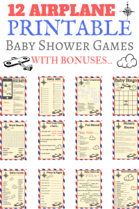 airplane baby shower printable games