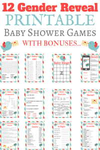 Printable Gender Reveal Games
