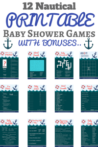 nautical baby shower game set