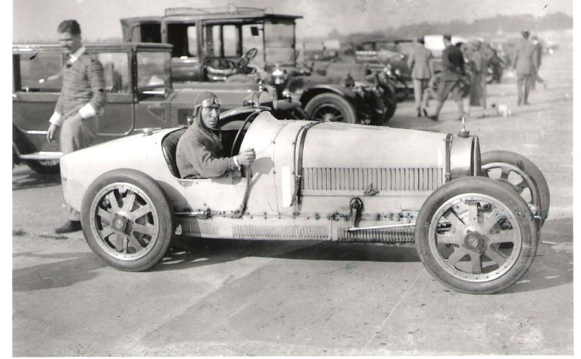 George Duller behind the wheel of the Type 35 Grand Prix