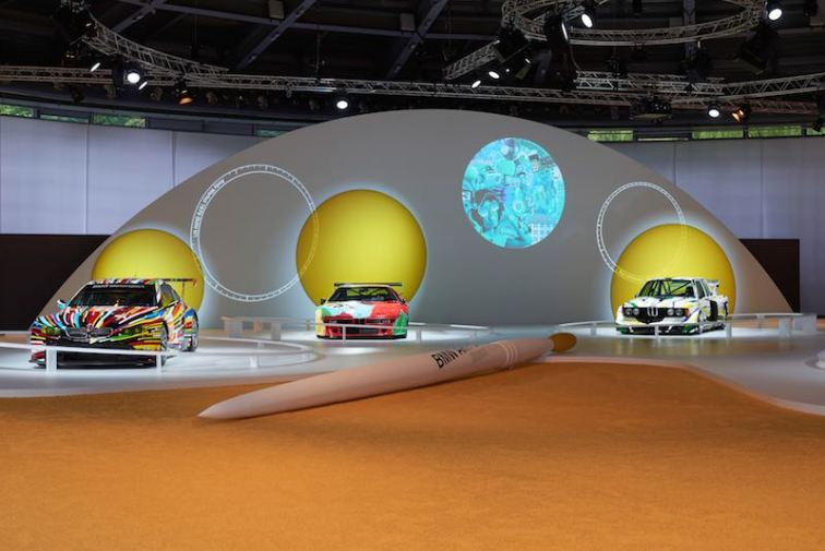 Jeff Koons BMW M3 GT2, 2010, Andy Warhol BMW M1 Group 4, 1979 and Roy Lichtenstein BMW 320 Group 5, 1977