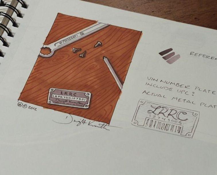 LRRC VIN Plate Sketch