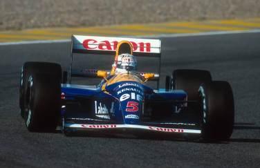 1992 Portuguese Grand Prix. Estoril, Portugal. 25-27 September 1992. Nigel Mansell (Williams FW14B Renault) 1st position. Ref-92 POR 08. World Copyright - LAT Photographic